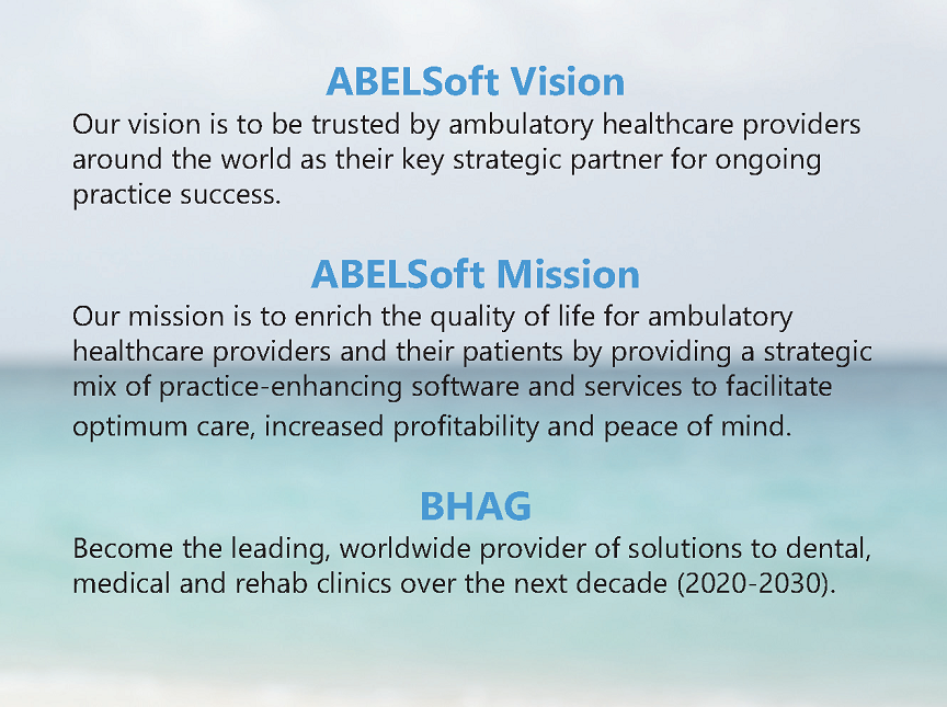ABELSoft Vision, Mission and BHAG